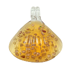 Rërë Pendants Gold Lampwork, 47x38x11mm, : 7mm, 12PC/Kuti,  Kuti