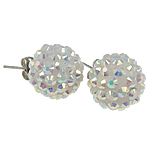 Vath Rrëshirë, Rrëshirë diamant i rremë, Round, colorful kromuar, asnjë, e bardhë, 16mm, 30Çiftet/Qese,  Qese