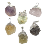Pendants gur i çmuar bizhuteri, Shape përziera, 33-35mm, : 3.5x6mm, 5PC/Qese,  Qese