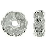 Ndarësit diamant i rremë, Petull e ëmbël në formë gjevreku, i praruar, Kristal, 8x8x3.50mm, : 1.5mm, 500PC/Qese,  Qese
