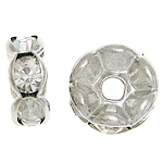 Ndarësit diamant i rremë, Petull e ëmbël në formë gjevreku, i praruar, Kristal, 6x6x2.80mm, : 1.8mm, 500PC/Qese,  Qese