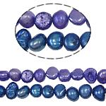 Barok Beads kulturuar Pearl ujërave të ëmbla, Pearl kulturuar ujërave të ëmbla, ngjyra të përziera, 4-5mm, : 0.8mm, :14Inç, 10Fillesat/Qese,  Qese