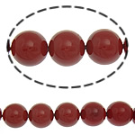 Detit të Jugut Beads Shell, Jug Deti Shell, Round, asnjë, i kuq, 12mm, : 0.5mm, :16Inç, 34PC/Fije floku,  16Inç,