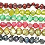 Barok Beads kulturuar Pearl ujërave të ëmbla, Pearl kulturuar ujërave të ëmbla, ngjyra të përziera, Një, 4-5mm, : 0.8mm, :14Inç, 10Fillesat/Qese,  Qese