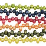 Barok Beads kulturuar Pearl ujërave të ëmbla, Pearl kulturuar ujërave të ëmbla, ngjyra të përziera, Një, 7-8mm, : 0.8mm, :14Inç, 10PC/Qese,  Qese