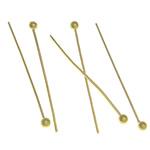 Tunxh Headpin, ngjyrë ari praruar, asnjë, , nikel çojë \x26amp; kadmium falas, 22x1.80x0.50mm, 10000PC/Qese,  Qese