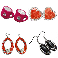 Enamel Metal Alloy Earring