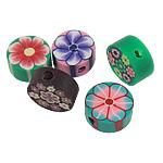 Beads polimer balta, Polymer Clay, Monedhë, asnjë, ngjyra të përziera, 10x4mm, : 3mm, 100PC/Qese,  Qese