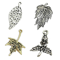 Zinc Alloy Leaf Pendants