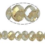 Rondelle Beads Crystal, Kristal, imitim kristal Swarovski, Silver shampanjë, 6x8mm, : 1mm, :15Inç, 10Fillesat/Qese,  Qese