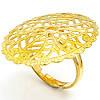 Filigran Brass Ring Base, Tunxh, ngjyrë ari praruar, asnjë, , nikel çojë \x26amp; kadmium falas, 23.20x30mm, : 16.5mm, :6.5, 200PC/Qese,  Qese