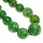 Rain Beads lule gur, Lule Rain Stone, Round, natyror, 6-14mm, :16.5Inç, 5Fillesat/Shumë,  Shumë
