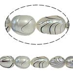 Rajs Beads ujërave të ëmbla kulturuar Pearl, Pearl kulturuar ujërave të ëmbla, Oriz, natyror, e bardhë, Një, 8-9mm, : 0.8mm, :15Inç,  15Inç,