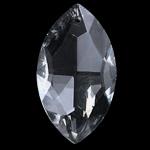 KRISTALLanhänger, Kristall, Pferdeauge, Kristall, 20-21X36-37X11-12mm, Bohrung:ca. 1.5mm