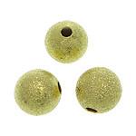 Tunxh Beads Stardust, Round, ngjyrë ari praruar, asnjë, , nikel çojë \x26amp; kadmium falas, 8mm, : 2mm, 1500PC/Qese,  Qese
