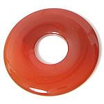 Pendants Red agat, Petull e ëmbël në formë gjevreku, 50x50mm, : 10mm, 50PC/Shumë,  Shumë