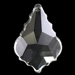 Crystal Pendants, Kristal, Gjethe, Kristal, 35x50x13mm, : 2mm,  PC