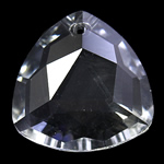 KRISTALLanhänger, Kristall, Dreieck, Kristall, 28x11mm, Bohrung:ca. 2mm, verkauft von PC