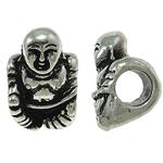 Zink Legierung Europa Perlen, Zinklegierung, Buddha, ohne troll, frei von Nickel, Blei & Kadmium, 10x14x11mm, Bohrung:ca. 5mm, 10PCs/Tasche, verkauft von Tasche
