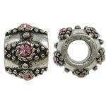 Beads European aliazh zink, Alloy zink, Daulle, pa karrem & me diamant i rremë, , nikel çojë \x26amp; kadmium falas, 11x9mm, : 5mm, 10PC/Qese,  Qese