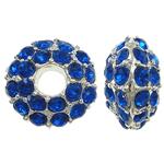 Beads European aliazh zink, Alloy zink, Rondelle, pa karrem & me diamant i rremë, , nikel çojë \x26amp; kadmium falas, 14x8mm, : 5mm, 10PC/Qese,  Qese