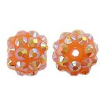 Beads diamant i rremë Rrëshirë, Rrëshirë diamant i rremë, Daulle, asnjë, me diamant i rremë, rozë, 10x12mm, : 2mm, 100PC/Qese,  Qese