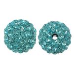 Rrëshirë Beads diamant i rremë, Round, asnjë, me diamant i rremë, Akuamarin, 10x10mm, : 1.5mm, 10PC/Qese,  Qese