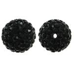 Rrëshirë Beads diamant i rremë, Round, asnjë, me diamant i rremë, Reaktiv, 12x12mm, : 1.5mm, 10PC/Qese,  Qese