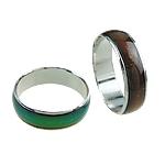Finger smalt Mood Ring, Tunxh, asnjë, 6mm, : 16-20mm, 100PC/Kuti,  Kuti