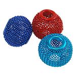 Beads bizhuteri alumini, Daulle, pikturë, ngjyra të përziera, 14x11mm, : 5mm, 100PC/Qese,  Qese