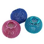 Beads bizhuteri alumini, Daulle, pikturë, ngjyra të përziera, 12x11mm, : 5mm, 100PC/Qese,  Qese