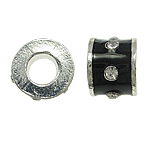 Beads European aliazh zink, Alloy zink, Daulle, pa karrem & smalt & me diamant i rremë, , nikel çojë \x26amp; kadmium falas, 10x8mm, : 5mm, 10PC/Qese,  Qese