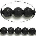 Beads bizhuteri gur i çmuar, Lavë, Round, natyror, 12mm, : 15.5Inç, 10Fillesat/Shumë,  Shumë