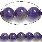 Beads kuarc bizhuteri, Ametist, Round, 4mm, :15.5Inç, 56PC/Fije floku,  15.5Inç,