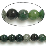 Manik-manik batu akik India alami, Putaran, 6mm, :15.5Inci, 10PC/Banyak,  Banyak