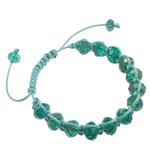 Lampwork Shamballa Bracelets, Rondelle, 8x10.50mm, :7.5Inç,  7.5Inç,