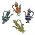 Pendants Zink Alloy, Alloy zink, Ibrik çaji, ngjyra të përziera, , nikel çojë \x26amp; kadmium falas, 13.60x21.50x6.20mm, 100PC/Qese,  Qese