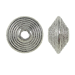 Zinc Alloy Flat Round Beads, antique silver plated, nickel, lead & cadmium free, 10x5mm, Hole:Approx 2mm, approx 830pcs/Bag, Sold by Bag
