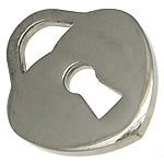 Pendants Stainless Steel bizhuteri, Zemër, 15x19x1.50mm, : 5x4mm, 50PC/Shumë,  Shumë