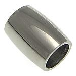 Edelstahlrohr Perlen, Edelstahl, Rundes Rohr, originale Farbe, 12x9mm, Bohrung:ca. 6mm, 50PCs/Menge, verkauft von Menge