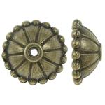 Alloy zink Bead Cap, Lule, Ngjyra antike bronz i praruar, asnjë, , nikel çojë \x26amp; kadmium falas, 10x4mm, : 1mm, 1420PC/Qese,  Qese