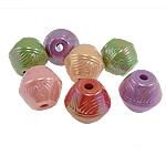 AB-ngjyra akrilik Beads kromuar, Bicone, Ngjyra AB kromuar, ngjyra të përziera, 25x22mm, : 5mm, 64PC/Qese,  Qese