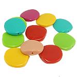 Beads Solid Color akrilik, ngjyra të forta, ngjyra të përziera, 23x6mm, : 2mm, 217PC/Qese,  Qese