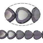 Beads Crystal Heart, Kristal, Zemër, Lt Amethyst, 16x16x8mm, : 1.5mm, :10.5Inç, 18PC/Fije floku,  10.5Inç,