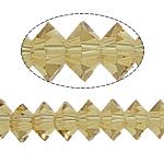 Doppelkegel Kristallperlen, Kristall, Untertasse, limonengelb, 3x6mm, Bohrung:ca. 2mm, 100PCs/Strang, verkauft per 13 ZollInch Strang