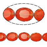 Beads Ovale Crystal, Kristal, asnjë, Zymbyl, 12x16x8mm, : 2mm, :15.7Inç, 25PC/Fije floku,  15.7Inç,