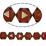Gjashtëkëndësh Beads Crystal, Kristal, Topaz tymosur, 13x16x11mm, : 1.5mm, :12Inç, 20PC/Fije floku,  12Inç,