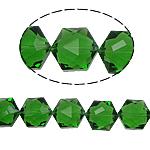 Gjashtëkëndësh Beads Crystal, Kristal, Olivine, 13x16x11mm, : 1.5mm, :12Inç, 20PC/Fije floku,  12Inç,