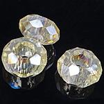 European Beads Crystal, Kristal, Rondelle, pa karrem, Gëlqere, 8-9x14-15mm, : 6mm, 100PC/Qese,  Qese