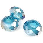 European Beads Crystal, Kristal, Rondelle, pa karrem, Akuamarin, 8-9x14-15mm, : 6mm, 100PC/Qese,  Qese